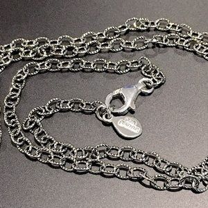 """BARSE Textured Links Sterling Silver Necklace 20"""""""